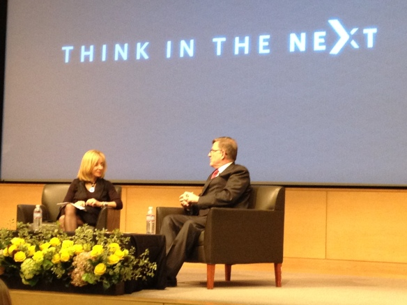 Dean Judy Olian and David Booth co-CEO and Chairman of Dimensional Fund Advisors