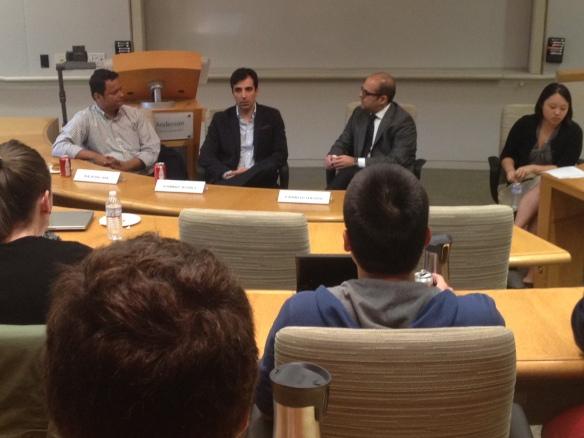 20140417 Rajesh Jha and Kambiz Aghili on panel for Easton Tech Leadership