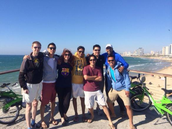 201402 UCLA in Israel  Cycling_group