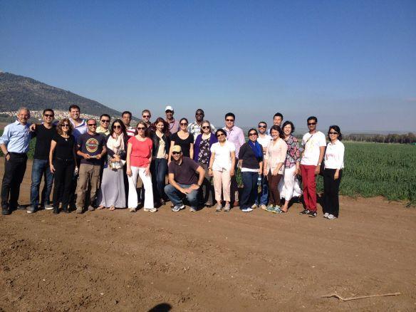 201403 UCLA in Israel Kaiima and Professor Gabriel
