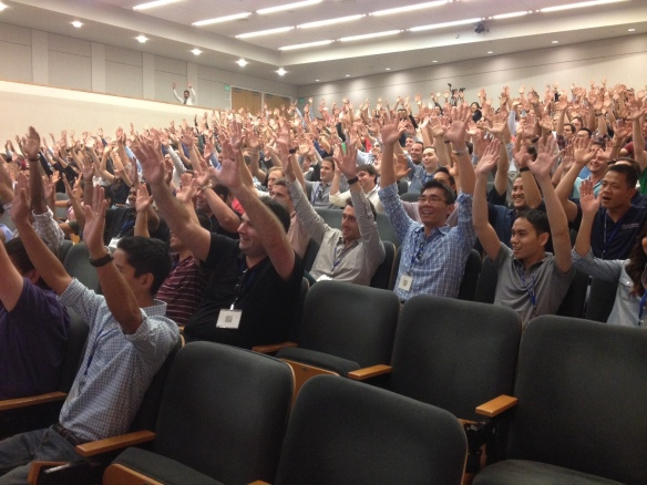 20140825 LF day one Class of 2017-Hands Up