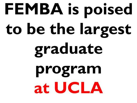Calling all UCLA FEMBA Applicants (2015 Intake) Class of