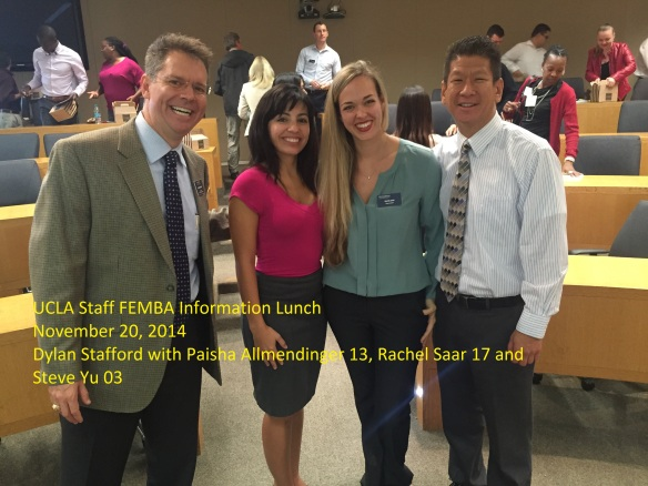 20141120  UCLA Employee Recruiting Event Paisha Allmendinger 13 Rachel Saar 17 and Steve Yu 03 labeled