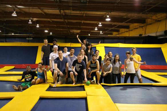 20150123AllysonTom15 and Section 3 trampoline dodgeball event