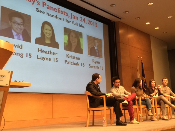 20150124 WQ OH Panel Matt Gorlick David Duon 15 Heather Layne 15 Krisin Palchak 16 and Ryan Swank 15