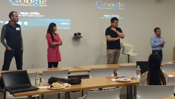 20150320 Google Mountain View Panel Tim Frank Tim Hui Anna Min Sammy Shan and Neelima Clark not pictured