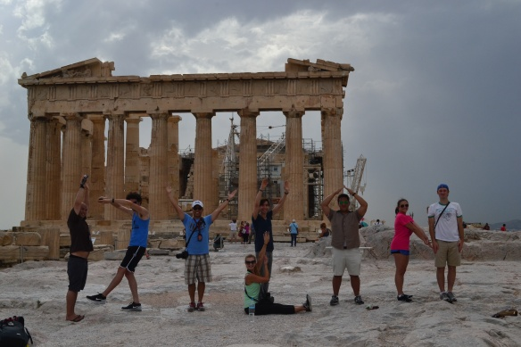 And finally...Peter Saephanh 18 sent me this photo, also from the Acropolis, of FEMBAs spelling out words during the September Greece visit. I am honored...