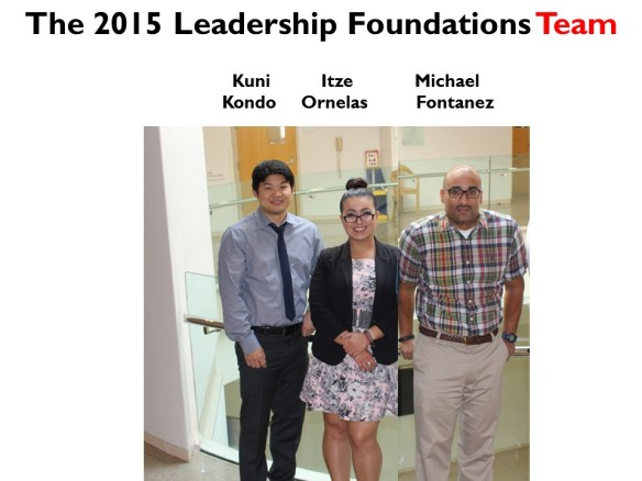 The Leadership Foundations team: Michael, Itze and Kuni, we couldn't do it without you all!