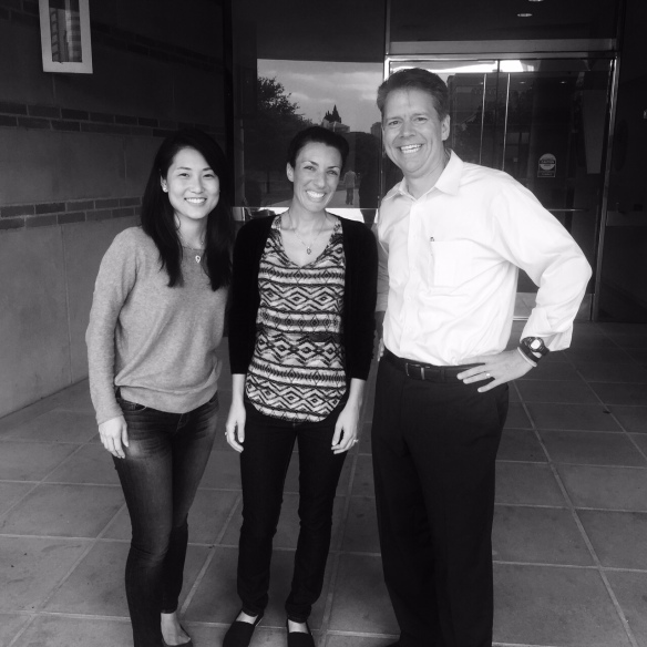This week, walking out the front door, I met (l-r) Lisa Reyes 18 and Jennifer Khedr 15. I had the privilege of teaching Jennifer in summer of 2013. Jennifer and Lisa met through networking of a mutual colleague who's also a FEMBA!